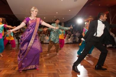 Bhangra3 Bride & Groom Indian dance