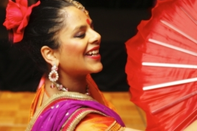 Corporate Stunning Bollywood Dancer smiling