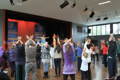 Interfaith Bollywood dance class