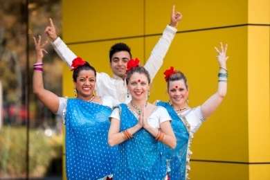Kmart office in Mulgrave- Bollywood dancers