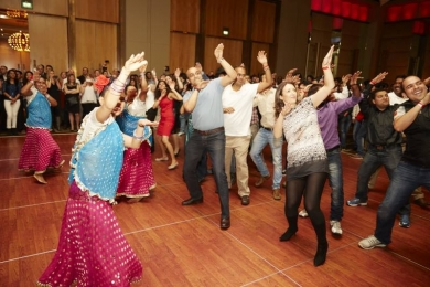 Team NAB in the Bollywood dance off