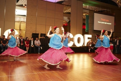 Corporate Bollywood dancers