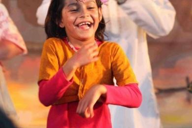 St Kilda festival little girl bollywood dances