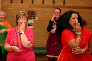 Seniors acting coy at bollywood dance workshop