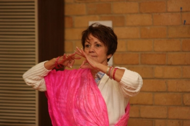 Seniors bollywood dance concentration