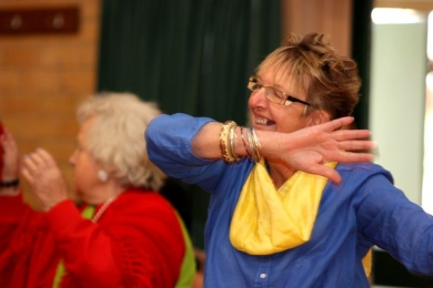 Seniors bollywood dance great for positive aging