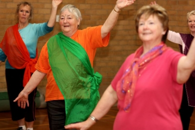 Seniors bollywood dance is a great excercise