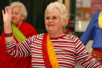 Seniors positive ageing with bollyood