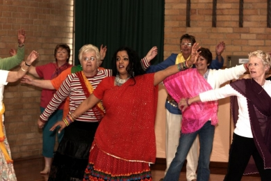 Vic Seniors Bollywood dance put out the washing
