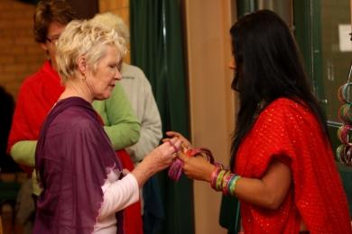 Vic Seniors Festival putting on bangles