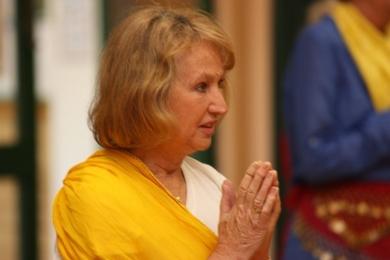 Vic Seniors fold hands in namaste