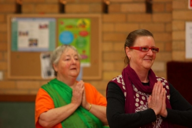Vic Seniors namaste is a sign of respect