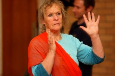 seniors bollywood hand movements increase blood circulation