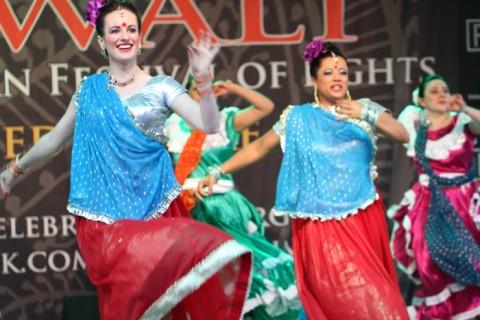 Bollywood dancers at Diwali