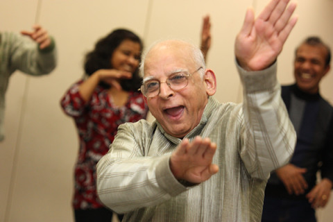 Bollywood dance workshop with Mr Babbar dancing his heart out